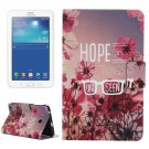 For Tab 3 Lite 7.0 Flowers Pattern Horizontal Flip Leather Case with Holder