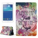 For Tab 3 Lite 7.0 Inspirational Pattern Horizontal Flip Leather Case with Holder