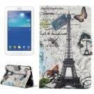 For Tab 3 Lite 7.0 Tower Pattern Horizontal Flip Leather Case with Holder