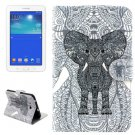 For Tab 3 Lite 7.0 Elephant Pattern Leather Case with Holder, Card Slots & Wallet