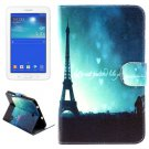 For Tab 3 Lite 7.0 Eiffel Pattern Leather Case with Holder, Card Slots & Wallet