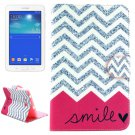 For Tab 3 Lite 7.0 Smile Pattern Leather Case with Holder, Card Slots & Wallet