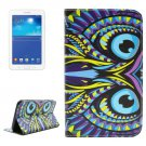 For Tab 3 Lite 7.0 Owl 2 Sided Leather Case with Holder, Card Slots & Wallet