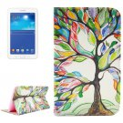 For Tab 3 Lite 7.0 Tree 2 Sided Leather Case with Holder, Card Slots & Wallet