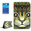 For Tab 3 Lite 7.0 Cat 2 Sided Leather Case with Holder, Card Slots & Wallet