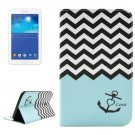 For Tab 3 Lite 7.0 Anchor 2 Sided Leather Case with Holder, Card Slots & Wallet