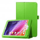 For Iconia One 8 Green Litchi Texture Horizontal Flip Leather Case with Holder
