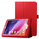 For Iconia One 8 Red Litchi Texture Horizontal Flip Leather Case with Holder