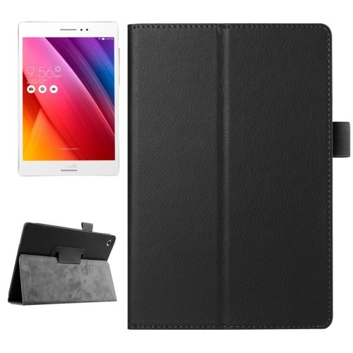 For ZenPad S 8.0 Black Litchi Smart Cover Flip Leather Case with Holder