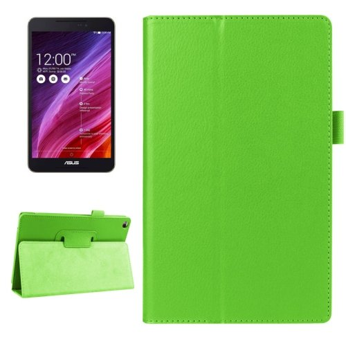 For FonePad 8 Green Litchi Smart Cover Flip Leather Case with Holder