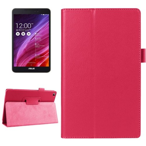 For FonePad 8 Magenta Litchi Smart Cover Flip Leather Case with Holder