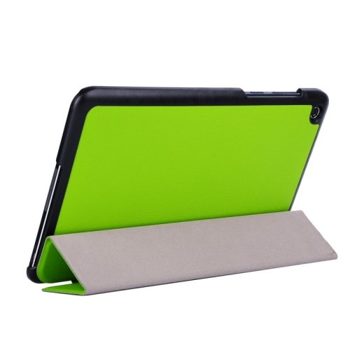 For Transformer Book T90 Chi Green Smart Cover Leather Case with 3 Fold Holder