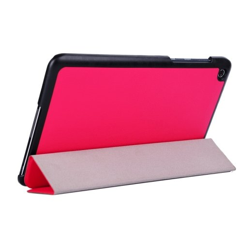 For Transformer Book T90 Chi Magenta Smart Cover Leather Case with 3 Fold Holder