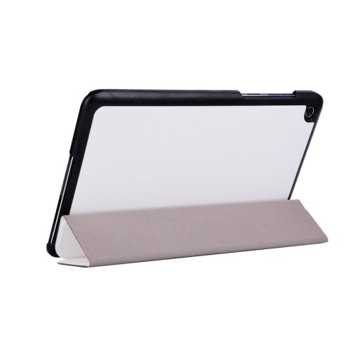 For Transformer Book T90 Chi White Smart Cover Leather Case with 3 Fold Holder