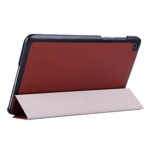 For Transformer Book T90 Chi Brown Smart Cover Leather Case with 3 Fold Holder