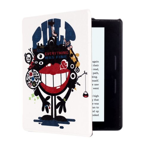 For Amazon Kindle Oasis Riceroar Pattern Flip Leather Case