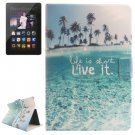 For Kindle Fire HDX Scenery Pattern Flip Leather Case with Holder & Card Slots