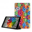 For LG G Pad III 8.0 Corkscrew Spin Pattern Flip Leather Case with Holder
