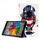 For LG G Pad III 8.0 Taz Riceroar Pattern Flip Leather Case with Holder