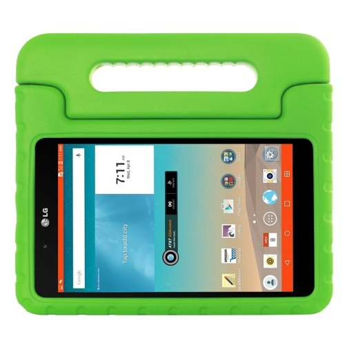 For LG G Pad F 8.0 V495 Green EVA Bumper Case with Handle & Holder