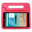 For LG G Pad F 8.0 V495 Magenta EVA Bumper Case with Handle & Holder