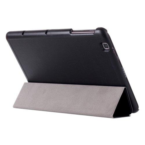For LG G Pad 2 10.1 Black Karst Flip Leather Case with Three-folding Holder