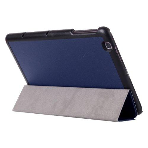 For LG G Pad 2 10.1 Dark Blue Karst Flip Leather Case with Three-folding Holder