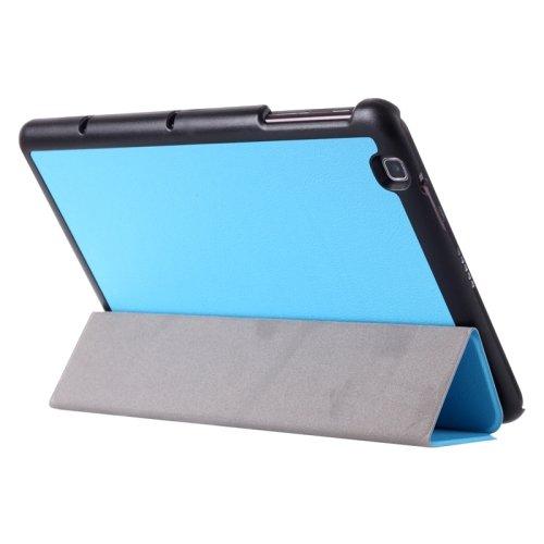 For LG G Pad 2 10.1 Blue Karst Flip Leather Case with Three-folding Holder
