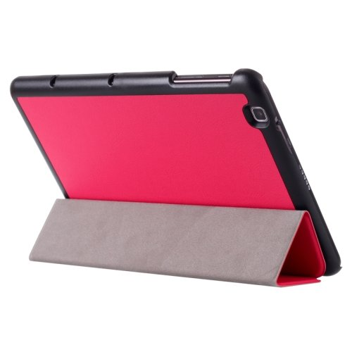 For LG G Pad 2 10.1 Magenta Karst Flip Leather Case with Three-folding Holder