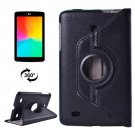 For LG G Pad 7.0 Black Litchi Flip Leather Case with 2 Gears Rotating Holder