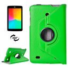 For LG G Pad 7.0 Green Litchi Flip Leather Case with 2 Gears Rotating Holder