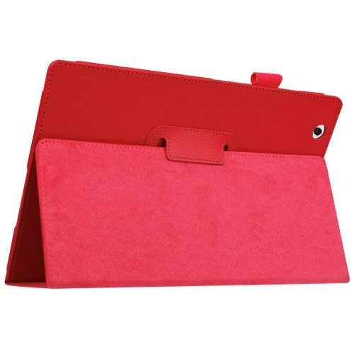 For Sony Xperia Z4 Red Litchi Texture Flip Solid Color Leather Case with Holder