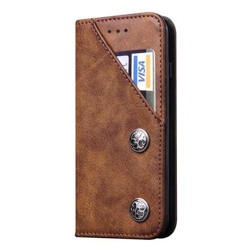 For iPhone 7 Plus Bronze Texture Brown Leather Case with Holder & Card Slots