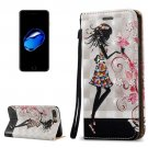 For iPhone 7 Plus 3D Relief Fairy Leather Case with Holder, Card Slots & Lanyard