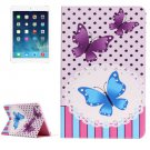 For iPad Air 2/iPad 6 Butterflies Pattern Horizontal Flip Leather Case with Holder