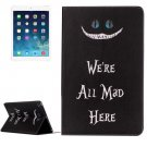 For iPad Air 2/iPad 6 All Mad Here Pattern Horizontal Flip Leather Case with Holder