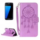 For Galaxy S7/G930 Purple Crazy Horse Leather Case with Holder, Card Slots, Wallet & Lanyard