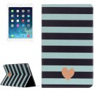 For iPad Air 2/iPad 6 Heart Pattern Horizontal Flip Leather Case with Holder