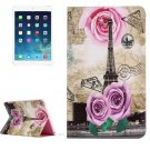 For iPad Air 2/iPad 6 Rose Tower Pattern Horizontal Flip Leather Case with Holder