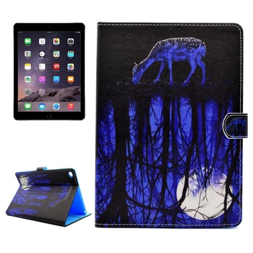 For iPad Air 2/iPad 6 Reflection Pattern Flip Leather Case with Holder, Card Slots & Wallet