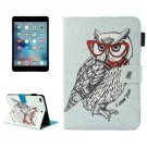 For iPad Mini 4/3/2/1 Owl Smart Cover Leather Case with Holder, Card/Pen Slots & Wallet