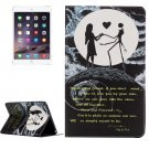 For IPad Mimi 4 Moon Couple Pattern Horizontal Flip Leather Case with Holder