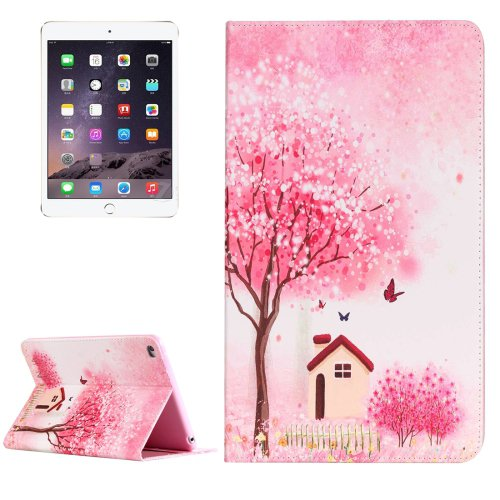 For IPad Mimi 4 Happy Cottage Pattern Horizontal Flip Leather Case with Holder