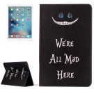 "For iPad Pro 12.9"" All Mad Here Pattern Flip Leather Case with Holder"