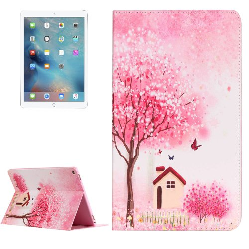"""For iPad Pro 12.9"""" Happy Cottage Pattern Flip Leather Case with Holder"""