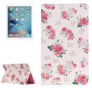 "For iPad Pro 12.9"" Chinese Rose Pattern Flip Leather Case with Holder"