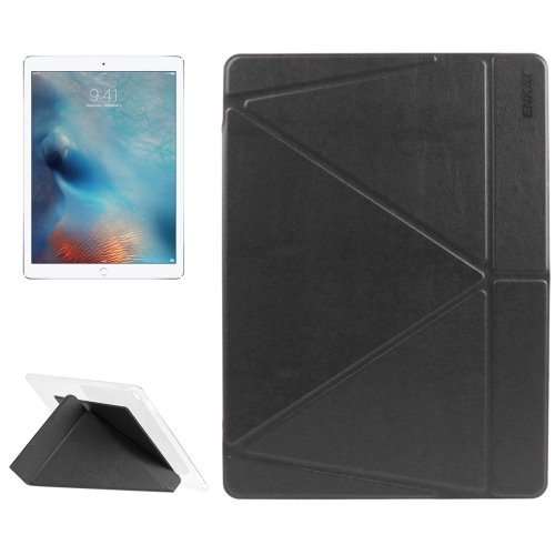 """For iPad Pro 12.9"""" Black ENKAY Transformers Smart Cover Leather Case with Holder"""