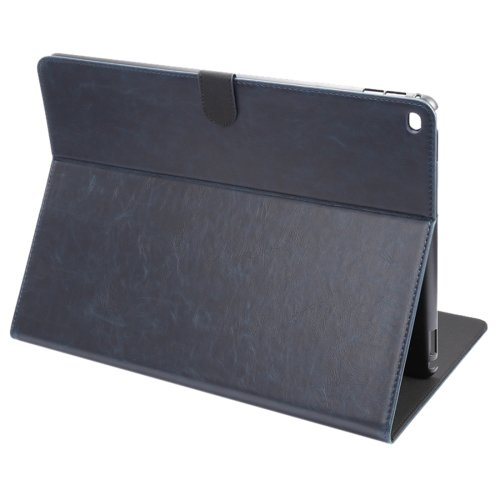 """For iPad Pro 12.9"""" Dark Blue ENKAY Crazy Horse Smart Cover Leather Case with Holder"""