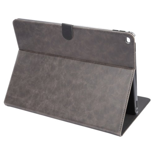 """For iPad Pro 12.9"""" Grey ENKAY Crazy Horse Smart Cover Leather Case with Holder"""