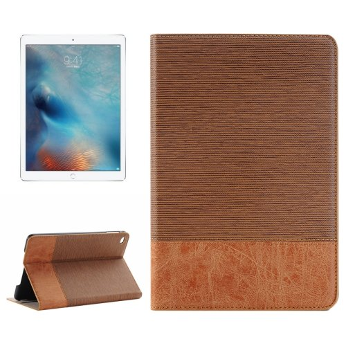 """For iPad Pro 12.9"""" Coffee Sheepskin Leather Case with Holder, Card Slots & Wallet"""
